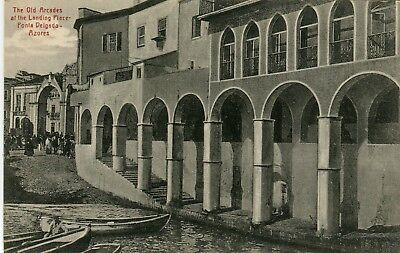 Portugal Azores Ponta Delgado - Landing Place Arcades old postcard