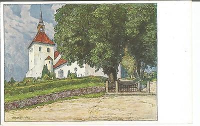 Norburg auf Alsen, Kirche, alte Ansichtskarte um 1920