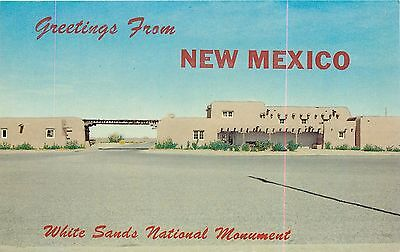 Greetings From White Sands National Monument Alamogordo New Mexico Nm Postcard
