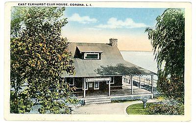 Corona Queens LI NY - EAST ELMHURST CLUB HOUSE - Postcard - Elmhurst Queens