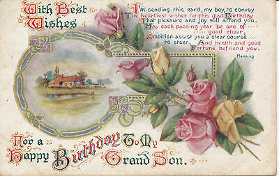 PC83488 Greetings. With Best Wishes For a Happy Birthday To My Grad Son. W.