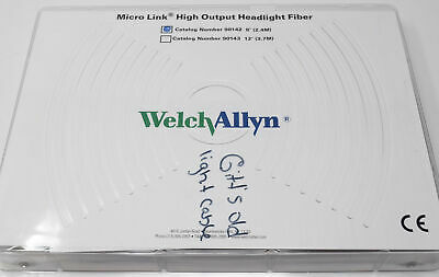 Welch Allyn Micro Link Fiber Optic Headlight Cable Ref-90142 8 2.4m Light Cabl