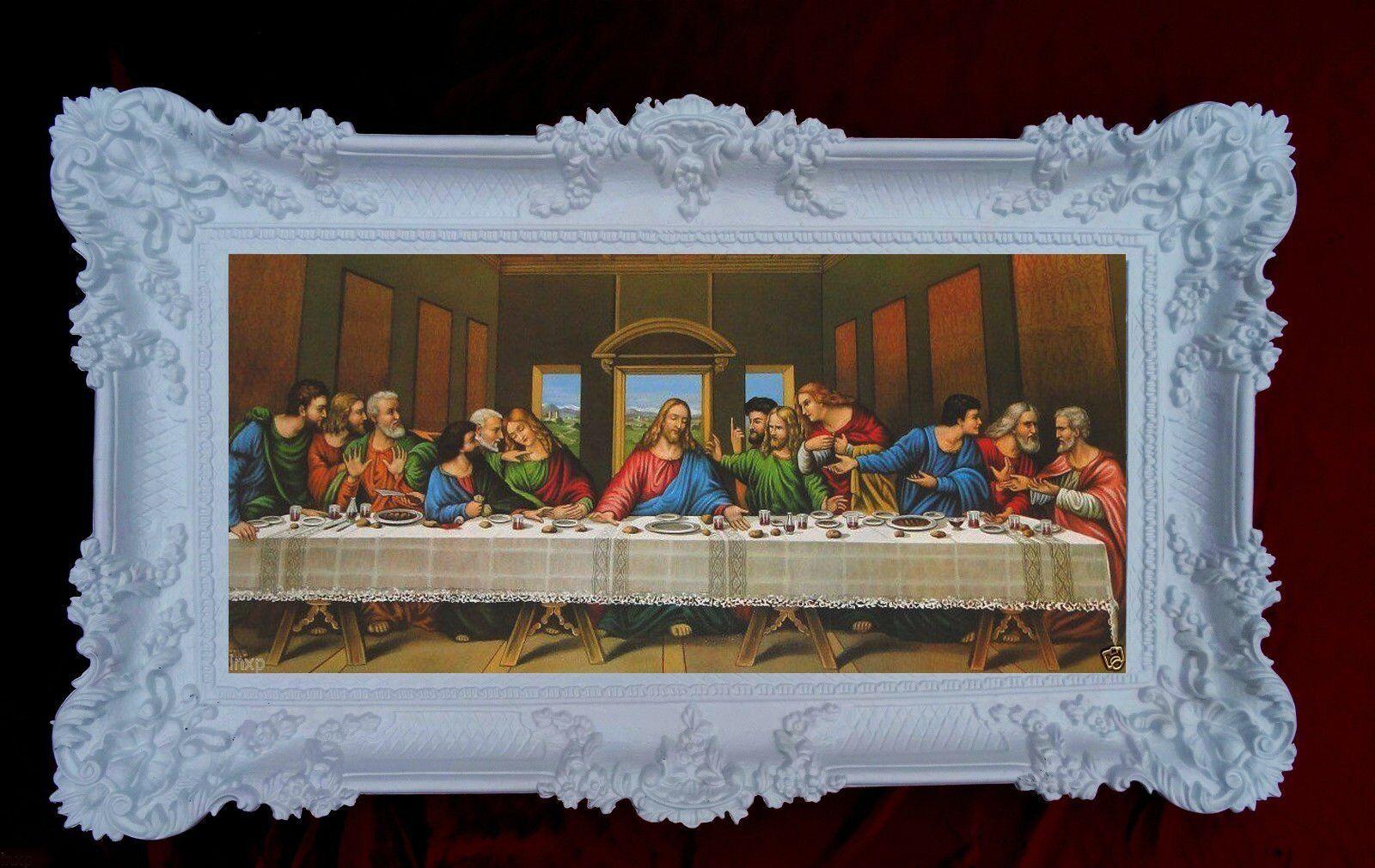 Heiligenbild mit Rahmen Gemälde Jesus 12 Apostel Abendmahl Ikonen ...