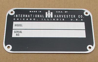 Id Serial Number Plate For Ih International Farmall 504 560 656 T-340 Td-340