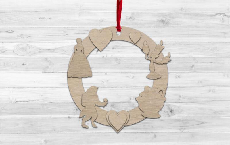 Beauty+Beast+Christmas+Wall+hanging+Decoration+Decorate%2C+Paint%2C+Kids+Craft%2C+DIY