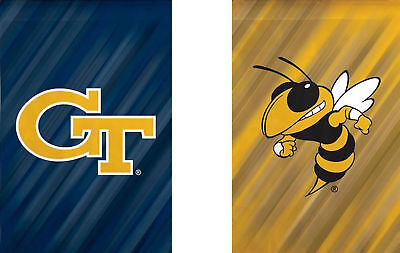 Georgia Tech House Flag (Georgia Tech Yellow Jackets NCAA Licensed House Flag 2 Sided 29