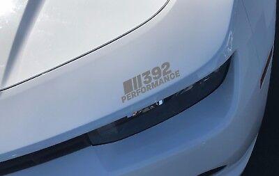 392 Performance Headlight Decal Sticker Dodge Challenger Charger HEMI SRT Silver