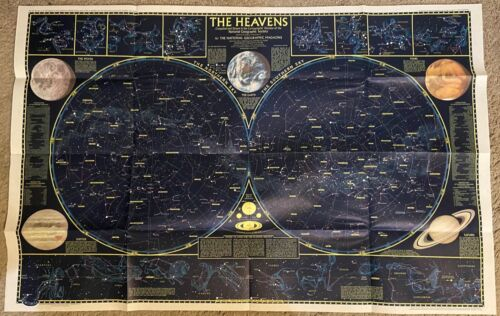 Map of the Heavens by National Geographic Maps, 1970