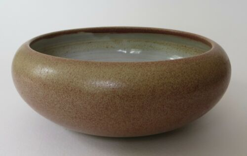 Marblehead Pottery Arts & Crafts Low Brown Bowl