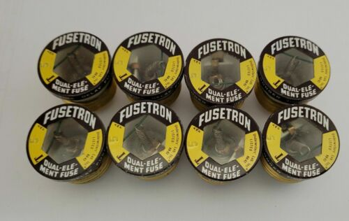 (8) NOS Buss FUSETRON Type T 5 Amp Fuse Dual Element Time Delay Fuse Screw