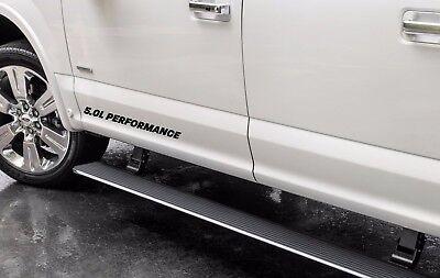 5.0L PERFORMANCE Door Decal Set Emblem Ford F150 Race Mustang Coyote V8 MT Black