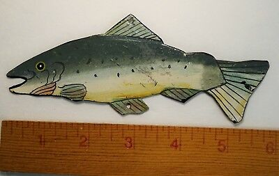 RARE Vintage c 1920s Spearing  Ice Fishing Decoy Lure -  Metal  Folk Art? Fish