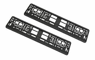 2x Kennzeichenhalter Carbon Look 3D Optik Hochglanz 520 mm 110 mm 52 cm 11 cm