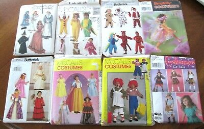 Colonial Costume For Kids (Costume Patterns for Kids Lot 8 Raggedy Ann Princess Animals Angel)