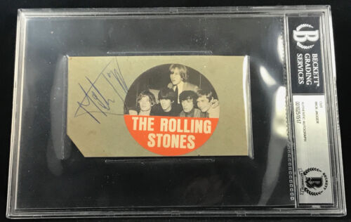 MICK JAGGER 1964 ROLLING STONES VINTAGE AUTOGRAPHED SIGNED CUT BECKETT BAS