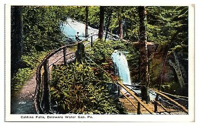 Early 1900s Caldina Falls, Delaware Water Gap, PA Postcard