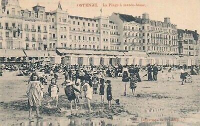 CPA - Belgique - Oostende - Ostende - La Plage à marée basse