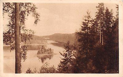 PUNKAHARJU SAVONLINNA SAVONIA FINLAND PANARAMA PHOTO POSTCARD c1910s