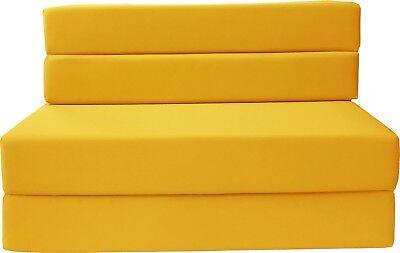 Full Size 4-Foldable Foam Matress Studio Folding Sofa Chair