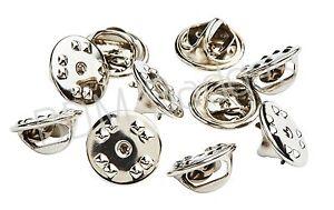 10 x METAL HAT PIN BACKS tac lapel pins Butterfly Clasp