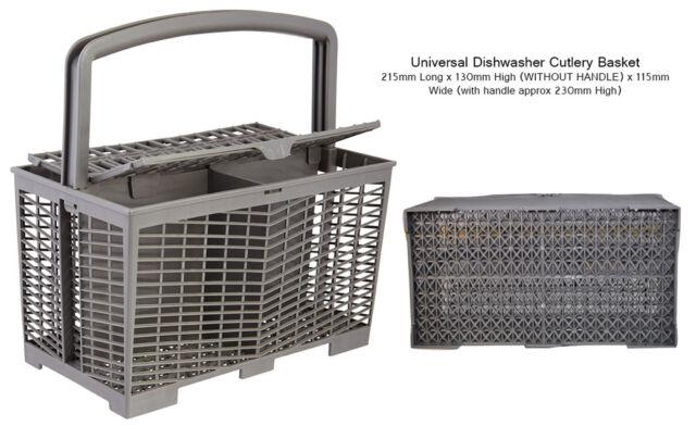 Universal Dishwasher Cutlery Basket: 215mm Long x 230mm High x 115mm Wide