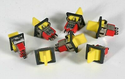 Spdt Toggle Switch - 3 Position - Yellow Buutton Black Frame - 7 Pieces