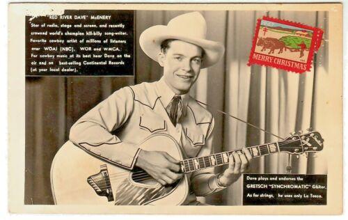 Vintage RED RIVER DAVE McENERY Promo Photo - WOAI 1200 Radio, San Antonio, TX