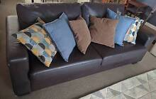 Gorgeous genuine brown leather sofa bed / lounge ***price drop Wollongong Wollongong Area Preview