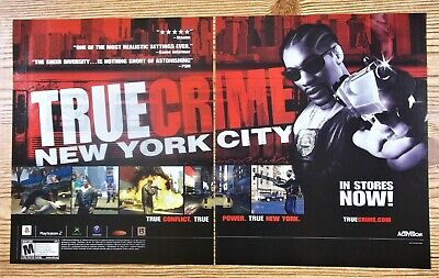 True Crime: New York City PS2 Xbox GameCube 2005 Vintage Poster Ad Game Room Art