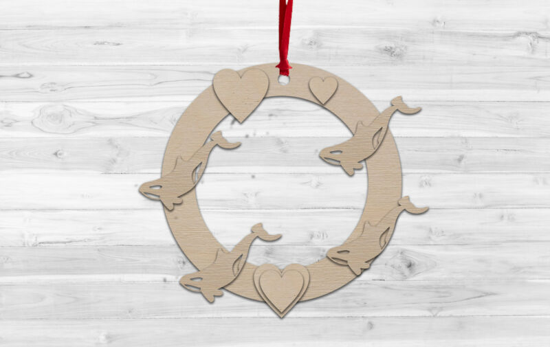 Orca+Whale+Christmas+Wall+hanging+Decoration+Decorate%2C+Paint%2C+Kids+Craft%2C+DIY