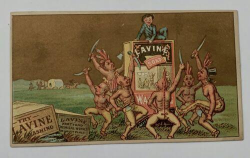 Lavine Soap Native American Trade Card