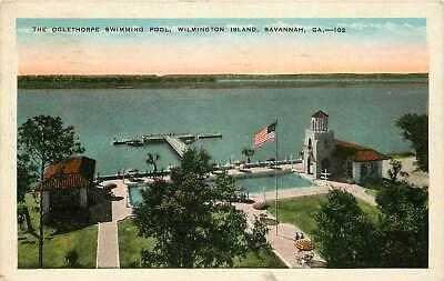 Georgia, GA, Savannah, Oglethorpe Swimming Pool, Wilmington Island Postcard
