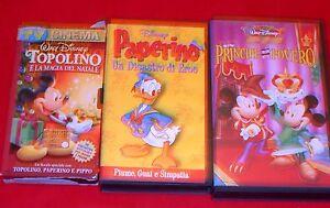 VHS-VIDEOCASSETTE-TITOLI-VARI-CARTONI-ANIMATI-WALT-DISNEY