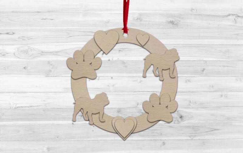 Bulldog+Christmas+Wall+hanging+Decoration+Decorate%2C+Paint%2C+Kids+Craft%2C+DIY