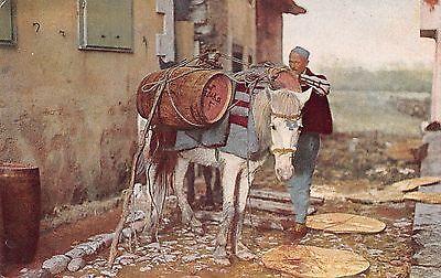 AK Balkan Albanischer Wasserhändler Albaner Typen Trachten vor 1945