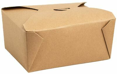 Made In Usa 50-count Recycled Take Out Brown Kraft Boxes - Leak And Grease Re...