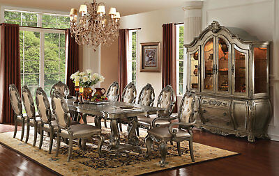 PERINI Old World Vintage Oak 11 piece Dining Room Rectangular Table & Chairs Set for sale  Shipping to Canada