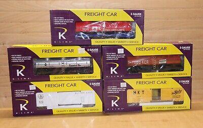 014 Gauge - 5 Mint K Line S Gauge Freight Cars