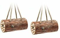 Pack Of 2 X Tom Chambers Hanging Wooden Bee Logs - Bee Houses - Insect Home - tom chambers - ebay.co.uk