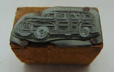 Printing Letterpress Printers Block Cool Old Car