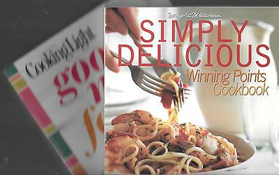 2 Cook Books Good Mood Food  Cooking Light    Simply Delicious  Weight Watchers