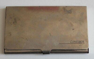 Vintage Concorde Metallic Name Business Card Holder