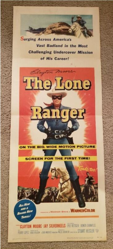 "Signed ""The Lone Ranger"", folded insert movie poster"