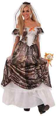 Hunting for Love Bride Redneck Wedding Camo Gown Dress Halloween Adult Costume