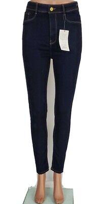 ZARA Z1975 NWT Body Shaping Blue Dark Wash Skinny Jeggings Jeans Sz 6