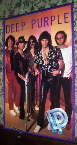 DEEP PURPLE Vintage 80s Group POSTER