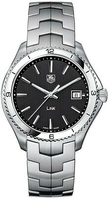 WAT1110.BA0950 TAG HEUER LINK SWISS QUARTZ MEN'S BLACK WATCH BOX PAPERS