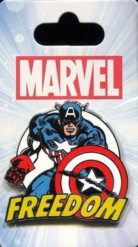 Disney MARVEL Captain America FREEDOM Pin New on Card