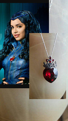 READY TO SHIP Disney Descendants EVIE inspired Necklace Halloween Costume Red