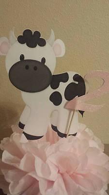 Cow farm birthday party table decor centerpiece or baby shower table decor  - Farm Centerpieces